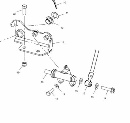 New Rear Brake Master Cylinder For Polaris ATV XPEDITION 325 425  2000 2001 2002
