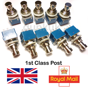 10x 3PDT PEDALE EFFETTO PER CHITARRA PEDALE Interruttore a Pedale True Bypass UK Seller X10