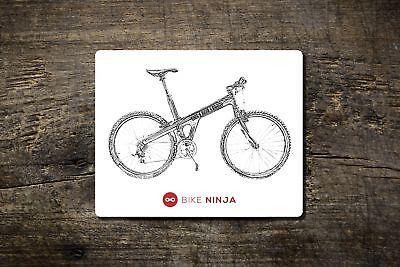 Retrò Classico-trimble-tappetino Mouse-ninja Bici Mtb Ciclismo Retrò-