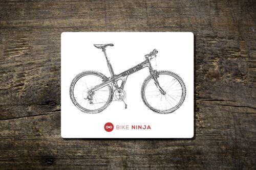 Bike Ninja MTB Cycling Retro Retro Classic Trimble Mouse Mat