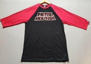 Metal-Mulisha-Red-Black-Basebal-3-4-Sleeve-Shirt-Size-XL