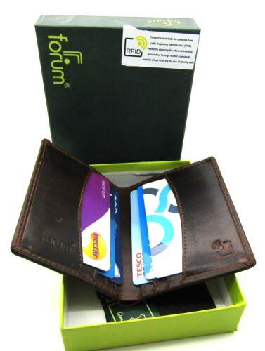 Herren Premium Qualität Brown Echtleder Portemonnaie Kreditkartenhalter Rfid