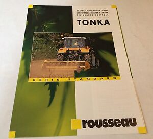 ROUSSEAU TONKA Flail Mowers & Straw Choppers Original 1980s Sales Brochure