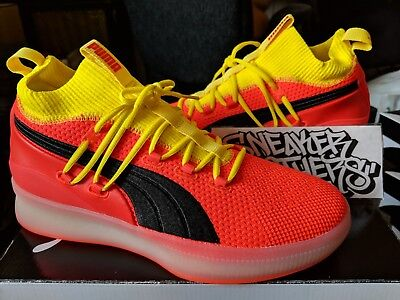 best sneakers 23088 41329 Puma Clyde Court Disrupt Red Blast Yellow Black Orange Basketball Men  191715-02 | eBay