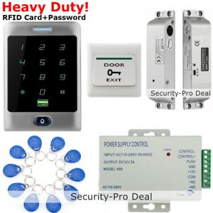 UK IP68 Waterproof RFID Card+Password Door Access Control+Magnetic Lock+IR Exit!