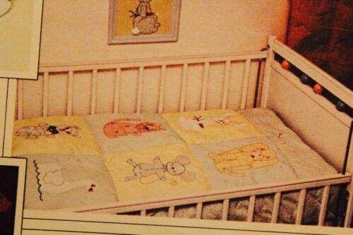 U PICK CRIB QUILTS Sew Pattern UC//FF Vintage NURSERY /& BABY ACCESSORIES