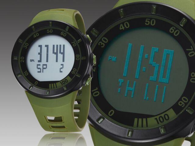 OHSEN Mens Waterproof Military Alarm Stopwatch Sport Quartz Digital Watch Green