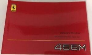2001 Ferrari 456M Owners manual (US version).