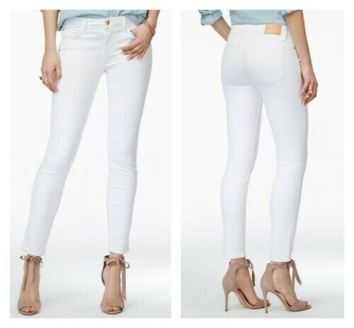Joe's Jeans White The Icon Mid Rise Skinny Cropped Jeans sz 31 NWT