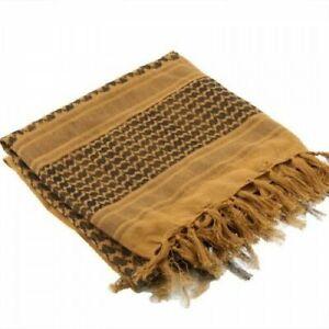 100-Coton-Militaire-Grade-Shemagh-Foulard-Keffieh-Sniper-Veil-Brown
