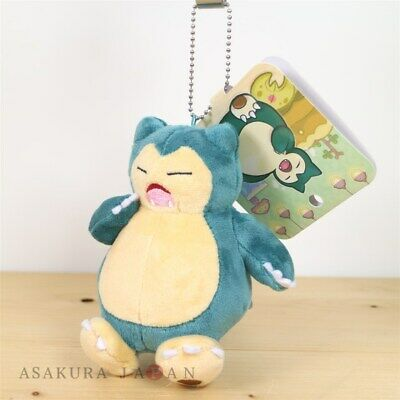 Pokemon Center Original Snorlax/'s yawn Snorlax Plush Mascot Key Chain From Japan