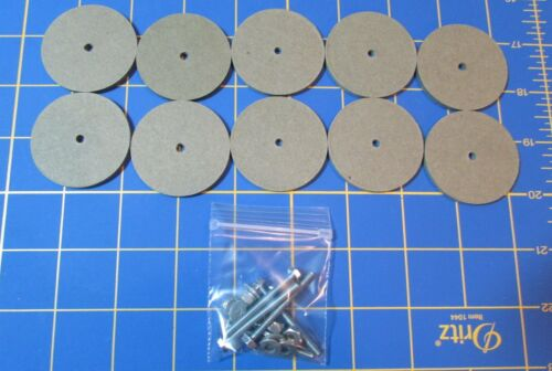 """1 3//4/""""  Hardboard Discs with Tapbolt Set For Jointed Teddy Bear = 10"""