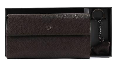 Braun Büffel Terra Woman Flap Wallet L & Keyfob Set Portafoglio Marrone Brown-mostra Il Titolo Originale Adottare La Tecnologia Avanzata