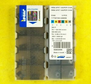 Iscar HM90 APKT 1003PDR IC908; 10 inserts//box