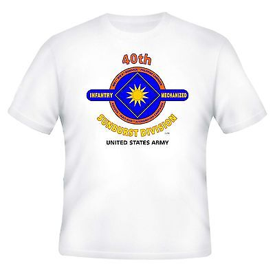40TH INFANTRY DIVISION & WORLD WAR II CAMPAIGNS VETERAN  2-SIDED SHIRT