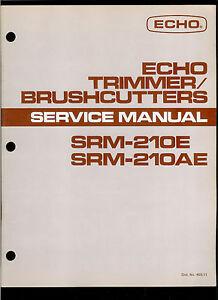 Echo Srm 210 repair Manual