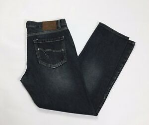 Stefanel-jeans-uomo-W36-tg-50-gamba-dritta-boyfriend-denim-usato-grigio-T2593
