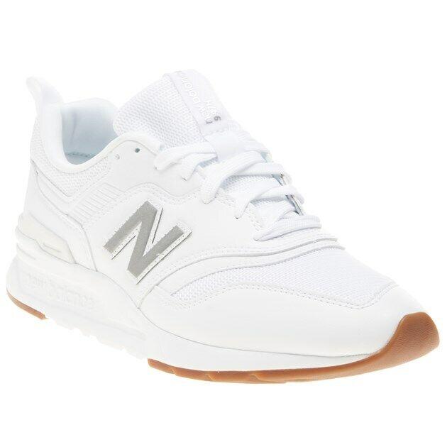 Homme nouveau   Blanc 997 Cuir paniers à semelle compensée lacets