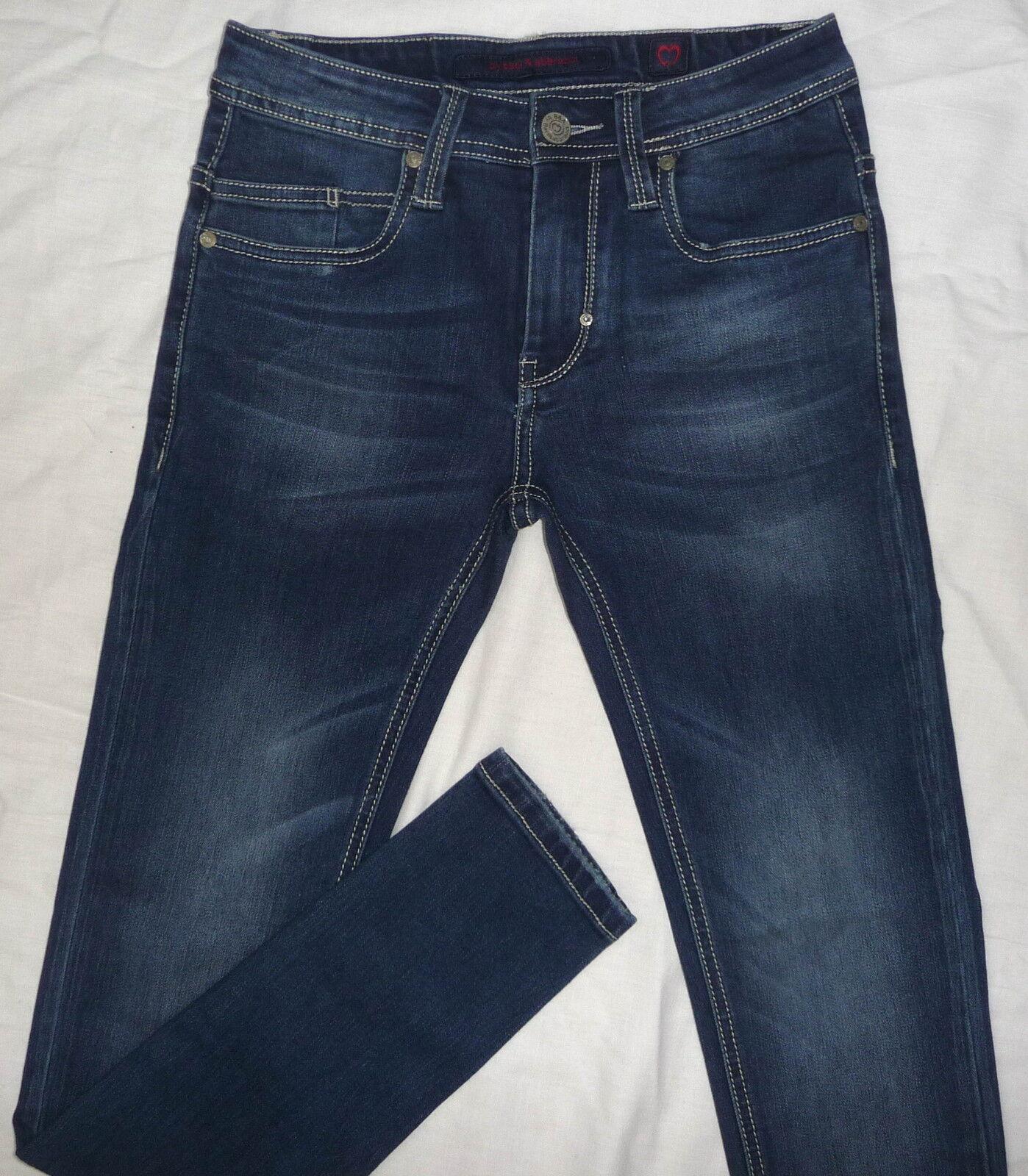 Jeans Skinny Uomo Baci Abbracci Gamba Stretta Originale Elastici 44 46 48 50 52