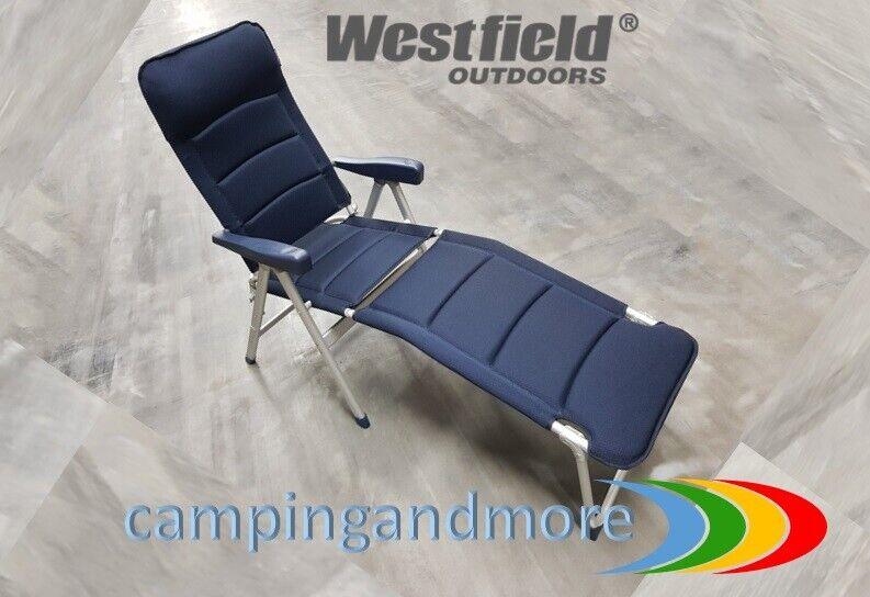Westfield Campingstuhl  PADDICO Light mit Beinauflage Camping  blau