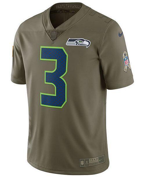 Nike NFL Seattle Seahawks Russel Wilson Salute Service Men Jersey Size M  882883 for sale online  c648dd595