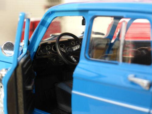G LGB 1:24 Scale 1964 Renault R8 Gordini Detailed Welly Model Car Blue 24015b