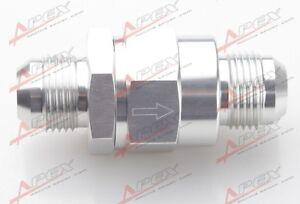 AN-8-AN8-8AN-8AN-Billet-Rueckschlagventil-Wasser-Heizoel-Aluminium-Silber