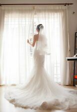 Strapless Lace Bridal Gown, Ivory/White, Custom Made, Size 6