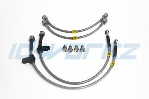 95-98 REAR HEL Performance Braided Brake Lines Hoses For Nissan 200SX S14