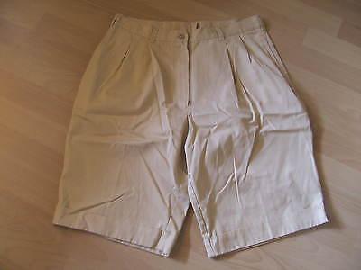 Frank Damen Shorts - Kurze Hose - Bundfaltenhose - Gr. 44 (maße Beachten) - Beige
