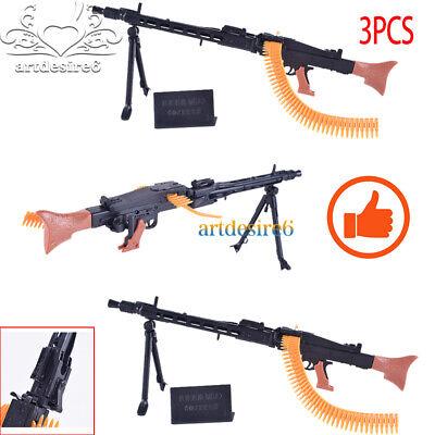"3pcs1 6 World War II Soldier Weapon MG42 Machine Gun Model Fit 12/""Action Figure"