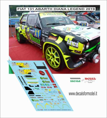 DECALS 1//43 FIAT 131 ABARTH DIANA RALLY LEGEND 2019