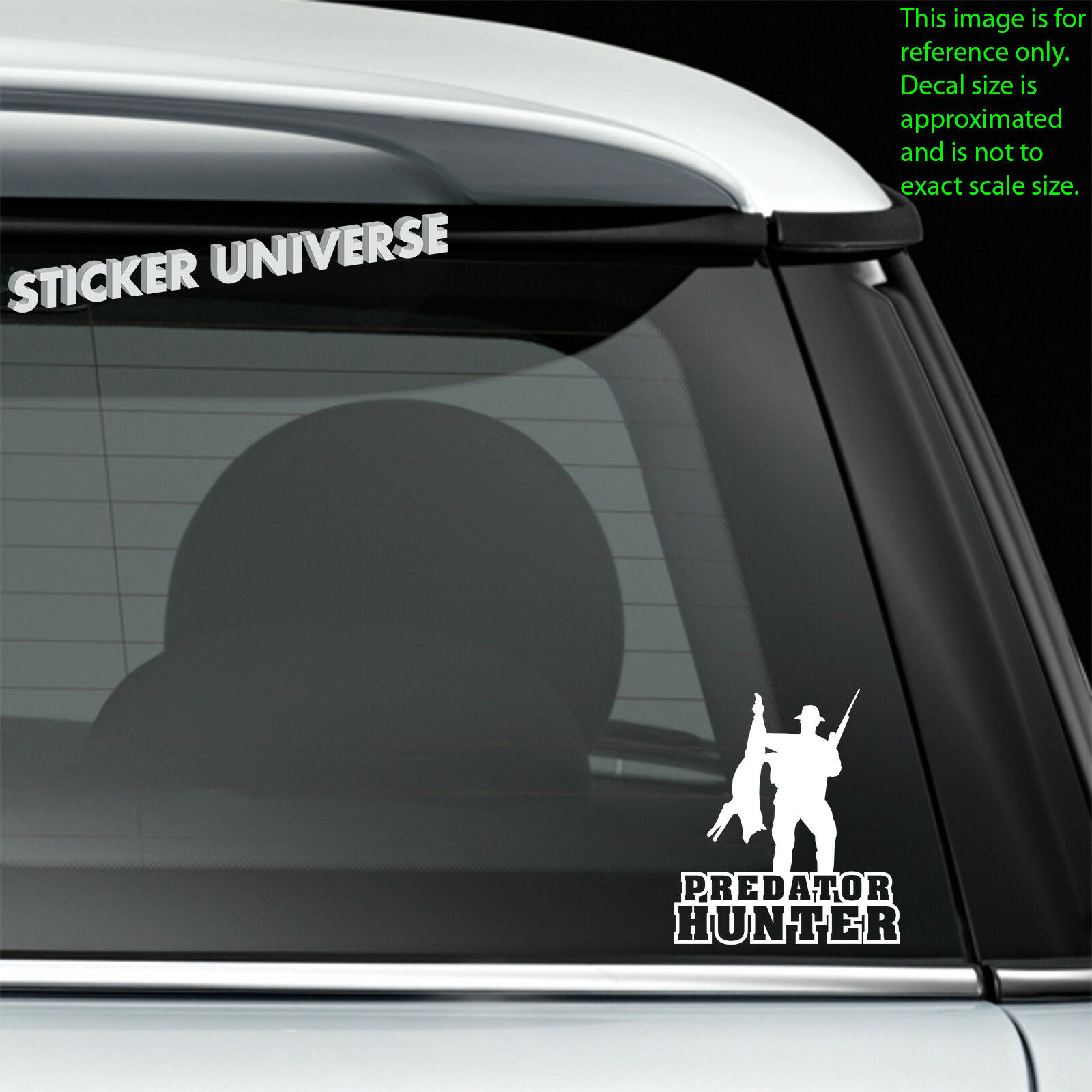 Predator Hunter Hunting Truck Car Window Decal Bumper Sticker Hunt Fox Bear 0206