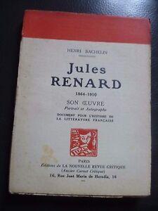 Henri Bachelin Jules Zorro Son Maestra Envío + Gira Autografiada N R.c 1930