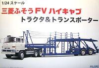 Fujimi Car Hauler Transporter & Truck 1:24 Scale Model Kit   NEW