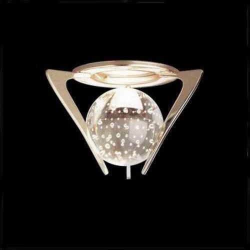 Glas Einbaustrahler Kugel weiß Einbauspot Glaskugel Spot Strahler Design Akzent