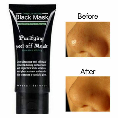 Face Mask Nose Blackhead Acne Pore Deep Remover Cleansing Strip Black Mud, New