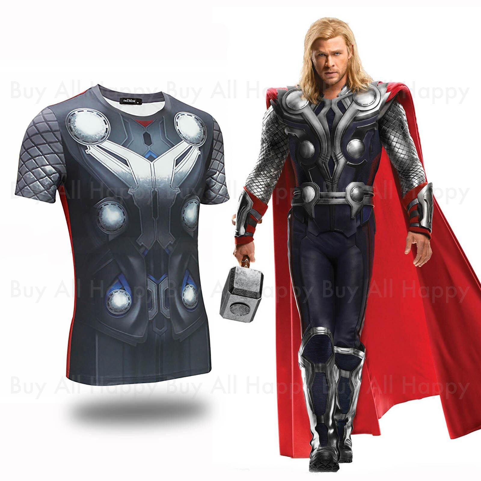 New Avengers Age of Ultron Thor Odinson Printed Short Sleeves Costume T T-shirt