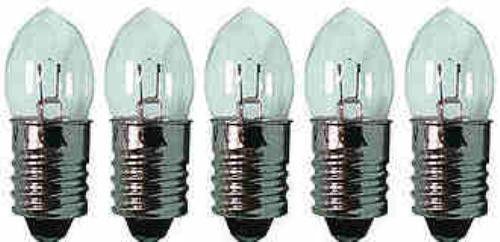 Lampada LAMPADINA 10x presa e10 Krypton 3,6v 0,7a torcia con 3 batterie