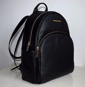 MICHAEL-KORS-Damen-Tasche-ABBEY-LG-BACK-PACK-Rucksack-schwarz-35S7GAYB3L