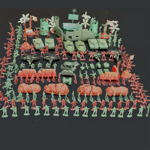 290-Pcs-Military-Playset-Plastic-Toy-Soldiers-Army-Men-4cm-Figures-amp-Accessorie