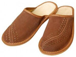Herren Hausschuhe - Größe 40-46 - Echtleder - Latschen,Pantoffeln - XC07