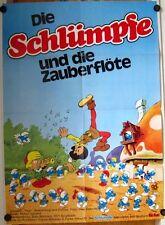 SCHLÜMPFE UND DIE ZAUBERFLÖTE (Kinoplakat / Filmplakat '76) - ANIMATION