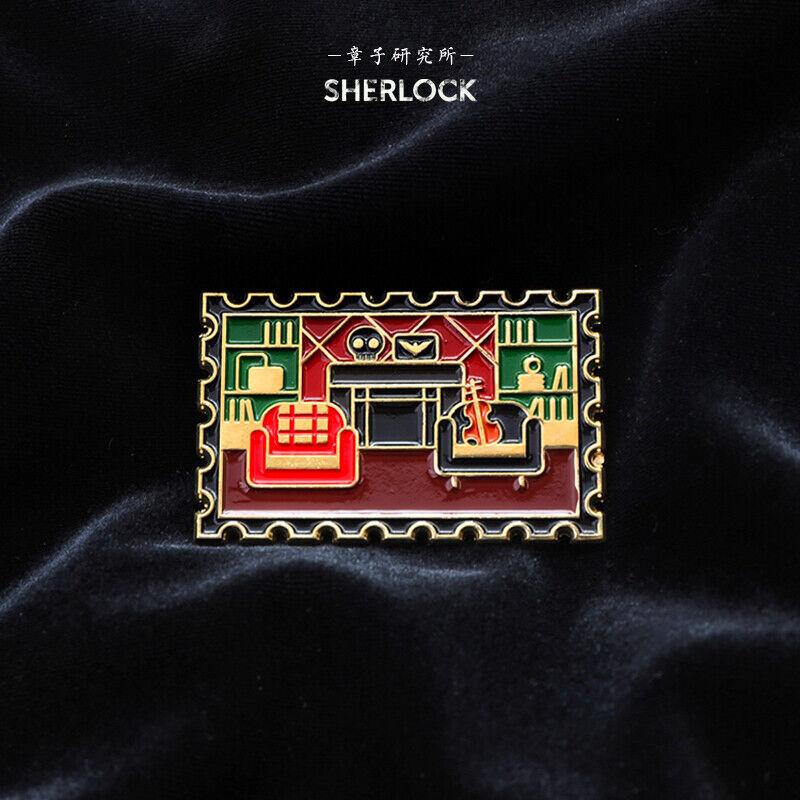 Sherlock-221B Sherlock Holmes Baker Street NO.221B Room badge Pin brooch Limit