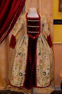 Abito-Storico-Costume-di-Scena-Abito-d-039-Epoca-Costume-Bambina-Stile-1700-cod-707
