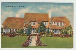 Unused-Postcard-The-Irish-Castle-Tulsa-Oklahoma-OK