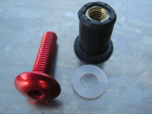 Screen Bolt Kit red anodised alu,4 bolts for Suzuki DL 650 V-Strom 2011