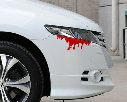 Auto Reflection Red Tear Blood Headlight Sticker Rear Decal Fit For Audi