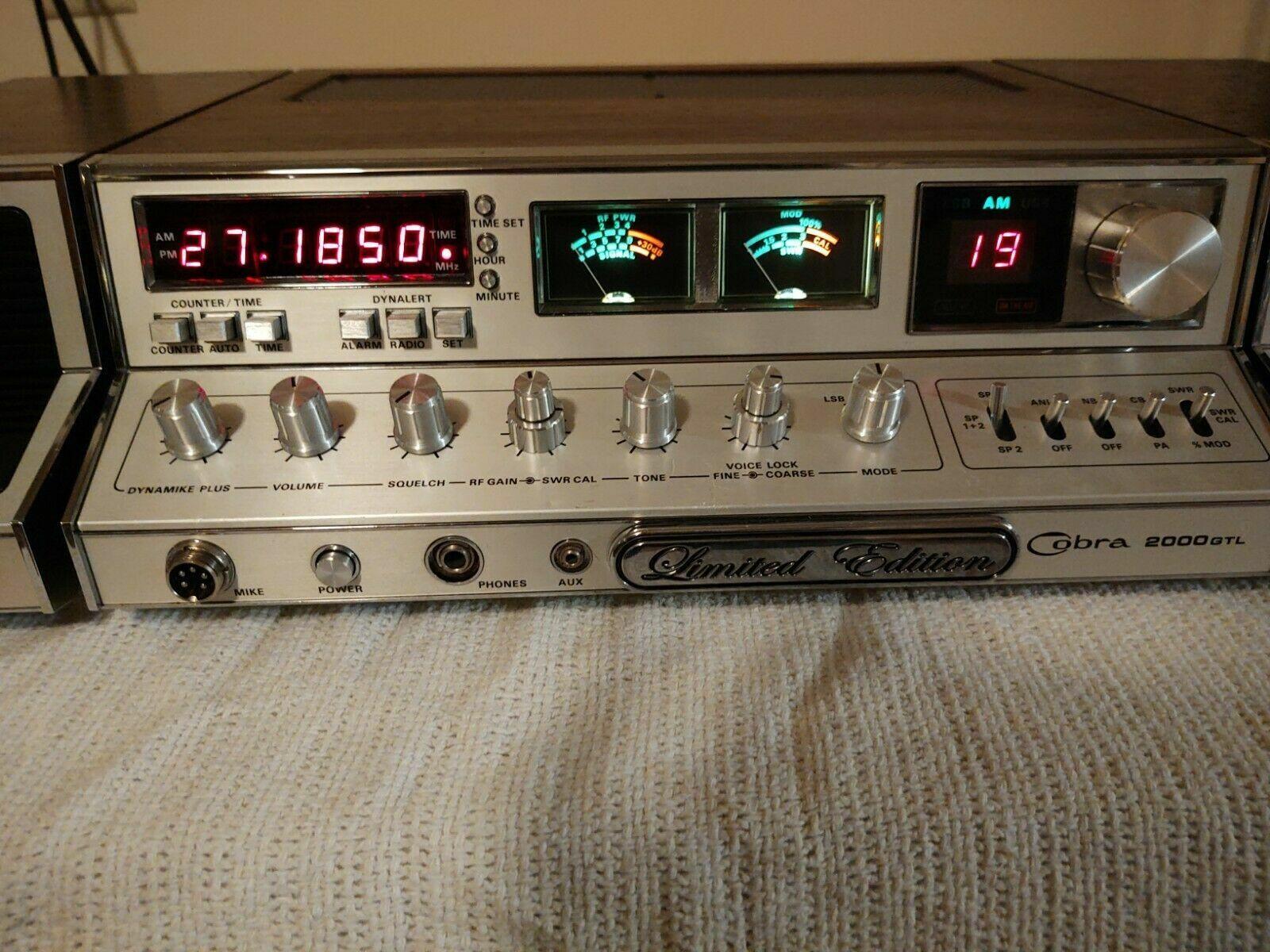 CB RADIO Cobra 2000 GTL-LE- CB BASE STATION AM/SSB/Up/Low/Channels Dial a Watt. Buy it now for 899.00
