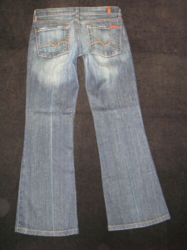 Flare Usa W Distressed Stretch 7 Womens All Dark Sz For Jeans 27 Mankind Made qq7I8